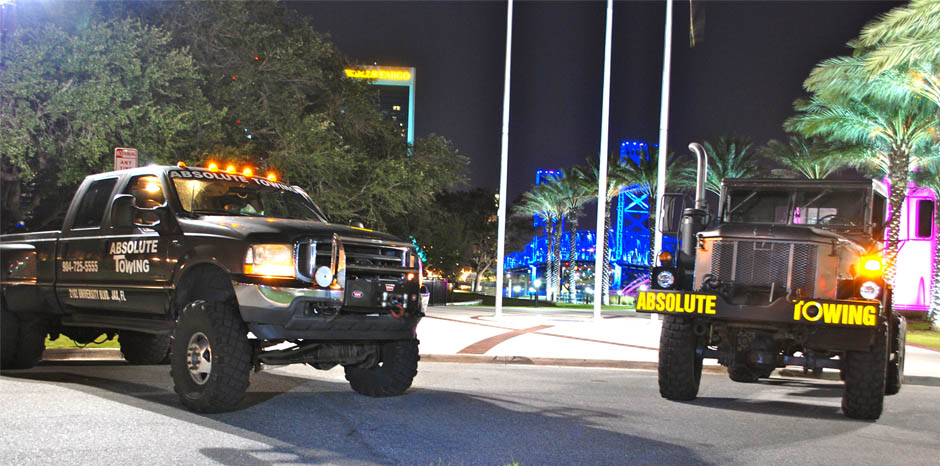 Need a tow truck? Get out of a bad situation with Absolute Towing in Jacksvonville, FL