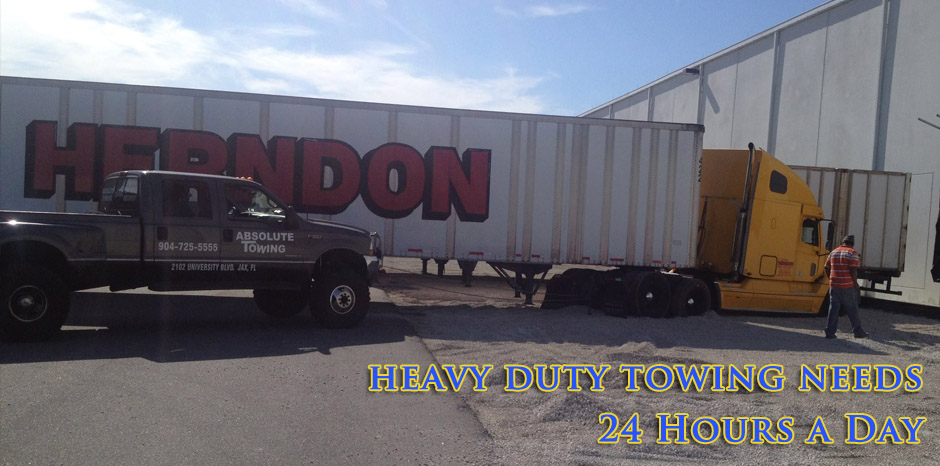 Got a heavy duty towing job? Absolute Towing in Jacksonville, FL can help.
